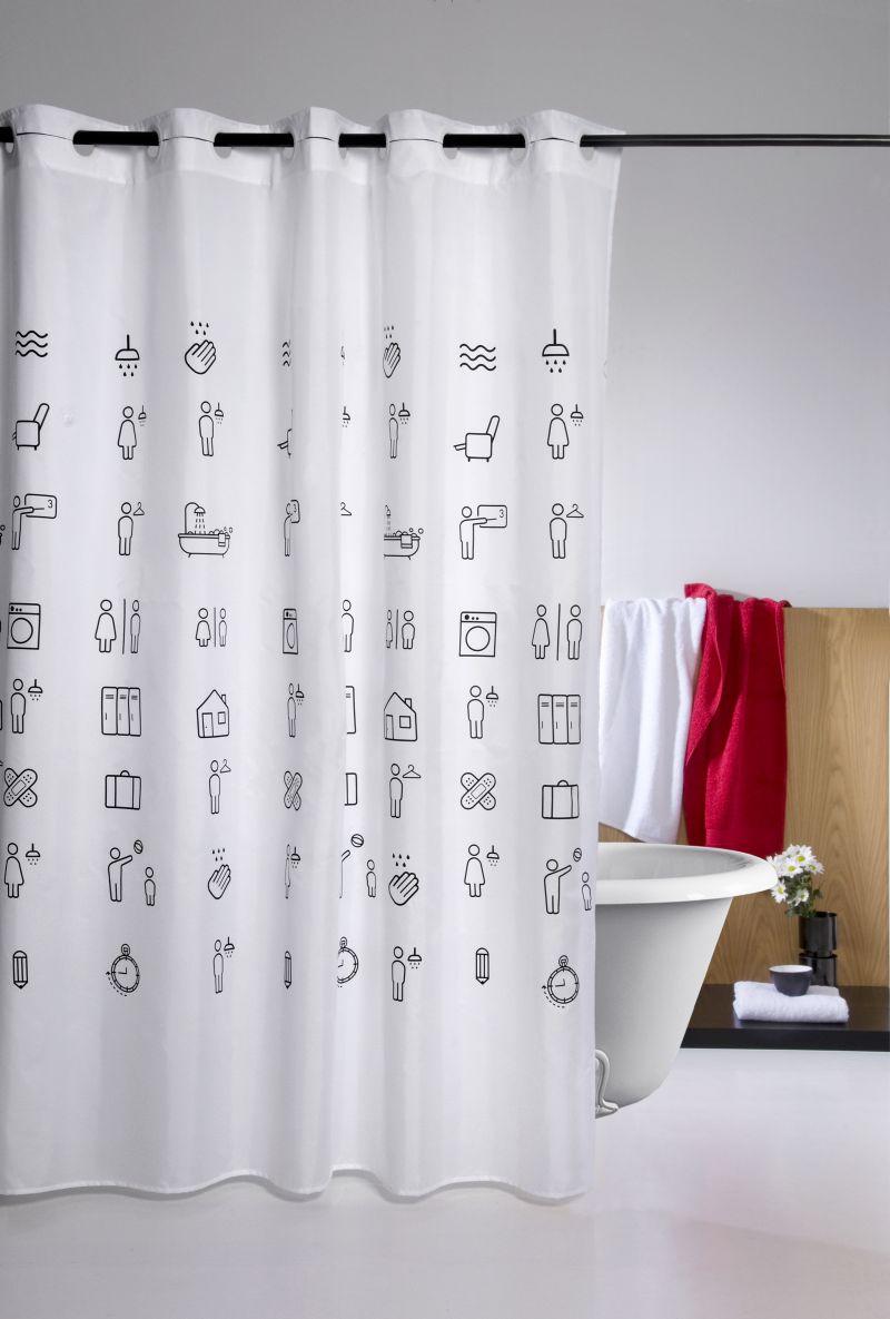perdea dus icons 225 180x200 cm comanda online lenjerii de pat cuverturi perdele paturi si. Black Bedroom Furniture Sets. Home Design Ideas