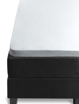 Cearceaf alb pat bumbac elastic 140x200 cm Jersey TP White