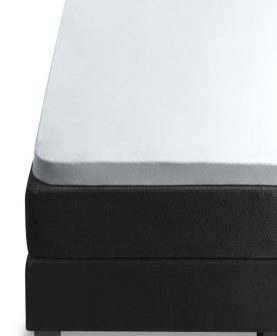 Cearceaf alb pat copii bumbac elastic 80x200 cm Jersey TP White
