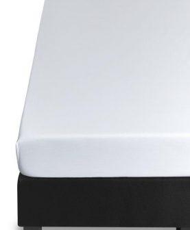 Cearceaf pat alb cu elastic 160x200 cm Percale35 white