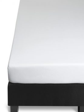 Cearceaf pat alb cu elastic 140x200/210 cm Jersey white Fitted
