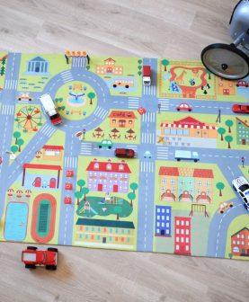Covoras joaca baietei oras City 80x150 cm