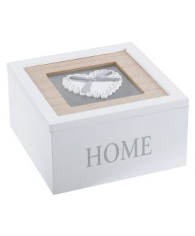 Cutie alba Home Bijuterii Charline 15X15X8 cm