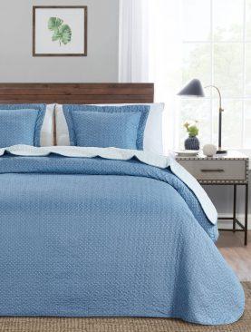Cuvertura albastra pat 7839 Indila Azul 235x270 cm