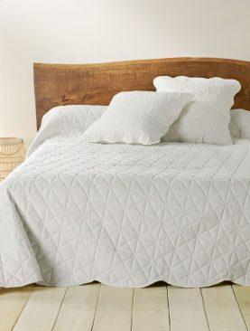 Cuvertura bej pat dormitor 5097 Toscane 230x250 cm