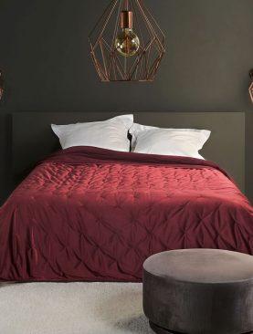Cuvertura catifea rosie 5109 Pandore 69 240x250 cm