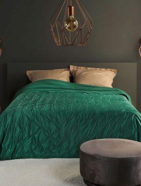 Cuvertura catifea verde 5109 Pandore 85 240x250 cm