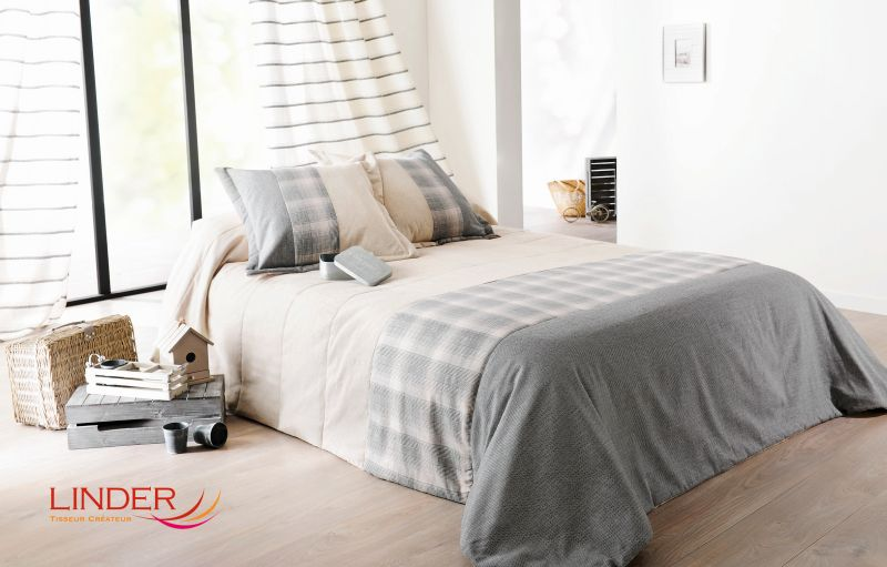 Cuvertura dormitor bej gri Calvin 5035 230×250 cm (Franta)