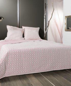 Cuvertura pat alb rosu 5089 Faro 230x250 cm