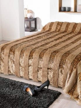 Cuvertura pat animal print leopard Lynx 5054 230x250 cm