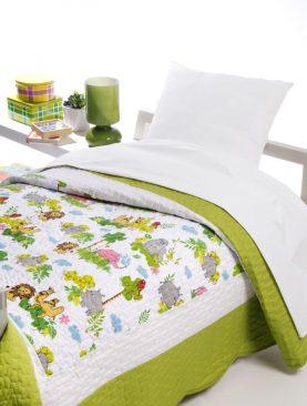 Cuvertura pat copii animale Safari 7753 180x270 cm