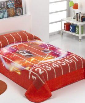 Cuvertura pat copii atletism rosie 189 160x220 cm