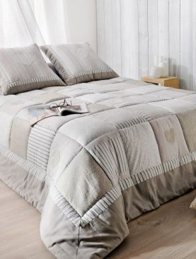 Cuvertura pat gri dormitor Ardoise 5042 230x250 cm