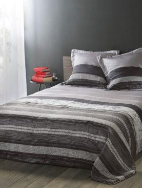 Cuvertura pat gri negru 5094 Inuit 230x250 cm