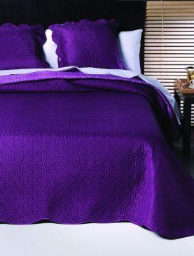 Cuvertura pat mov Montblanc 7602 235x270 cm