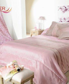 Cuvertura pat roz clasica Milano 5037 230x250 cm