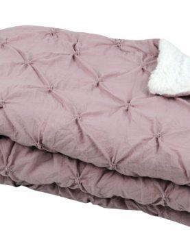 Cuvertura pat roz închis Blush Vieux Rose 220x240 cm