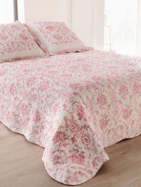 Cuvertura roz Toile de Jouy 5039 230x250 cm