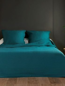 Cuvertura turcoaz uni pat 5102 Riviera 230x250 cm