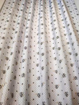 Draperie bej floricele gri Bras Grey 280 cm