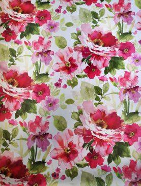 Draperie blackout flori rosii Dim Out Bohemiapek Rojo 300 cm