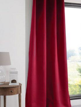 Draperie blackout rosie Notte Rouge 135x260 cm