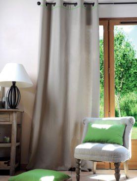 Draperie bumbac Duo Lin/Vert 135x250 cm