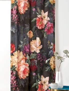 Draperie catifea flori colorate 1900 49333 Pivoine 65 145x250 cm