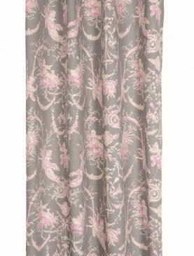 Draperie clasica gri roz personaje Montespan 135x250 cm