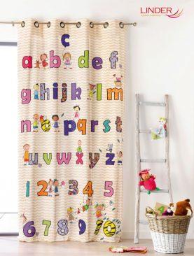 Draperie copii cu litere 0302/49883 Abecedaire 140x245 cm