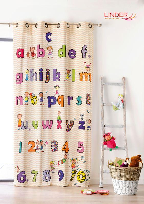 Draperie copii litere si cifre colorate Abecedaire 0302-49883