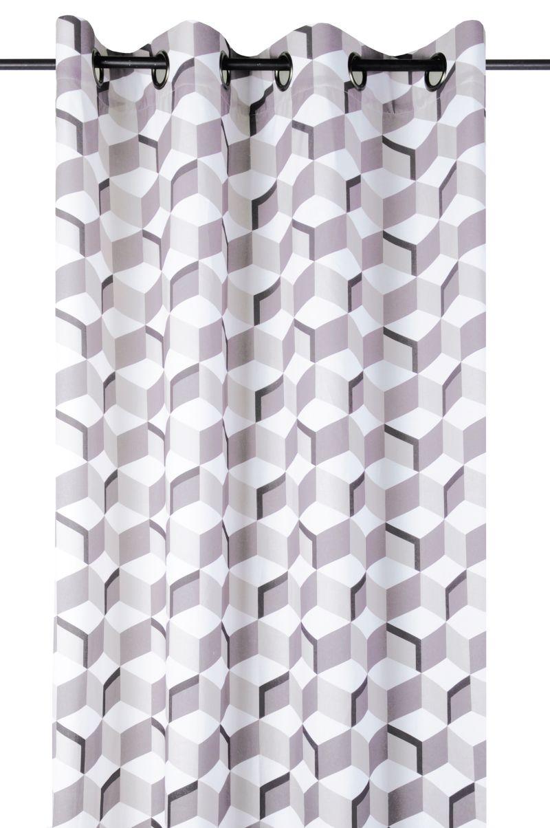 Draperie cuburi bej bumbac Stairs 135×260 cm (Franta)