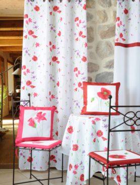 Draperie flori rosii Narciso 135x260 cm