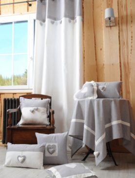 Draperie gri rustica 1717 Joliesse 135x260 cm