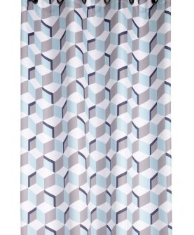 Draperie moderna cuburi turcoaz Stairs bumbac 135x260 cm