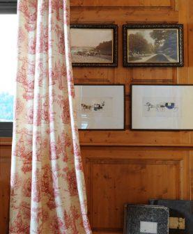 Draperie personaje rosie clasica Galanterie 2838 135x250 cm
