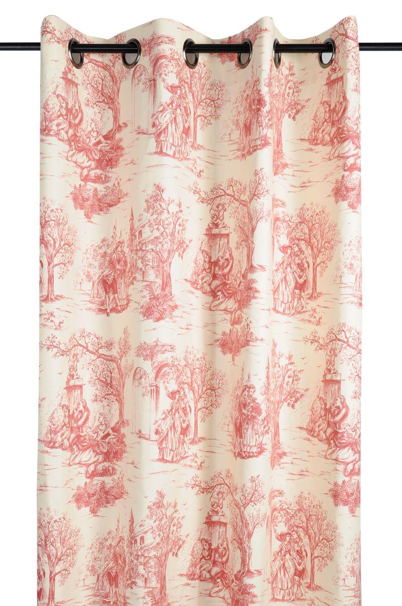 Draperie personaje rosie clasica Galanterie 2838 135×250 cm (Franta)