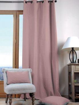 Draperie roz bumbac Duo Uni Poudre 135X240 cm