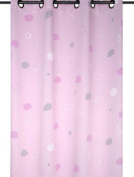 Draperie roz luminoasa norisori Moon Rose 140x260 cm