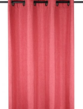 Draperie rustica rosu-corail Bea Rouge 140x260 cm