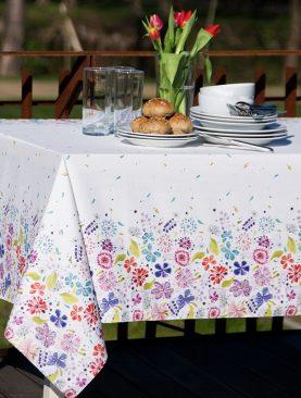 Fata de masa flori colorate bumbac Spring 150x200 cm