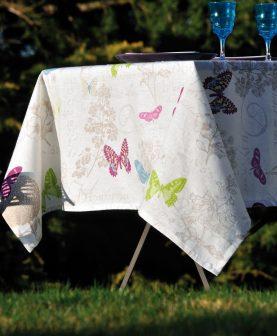 Fata masa alba fluturi colorati Butterfly 140x140 cm (Franta)