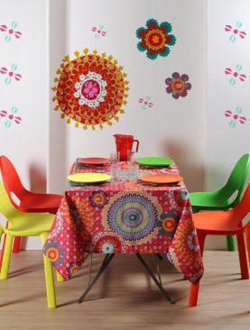 Fata masa antipata multicolora Colima 155x155 cm