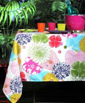 Fata masa bumbac flori colorate 155x155 cm Bahamas (Franta)