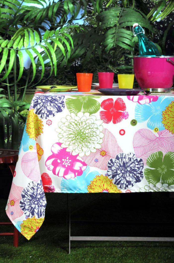 Fata masa bumbac flori colorate 155×250 cm Bahamas (Franta)