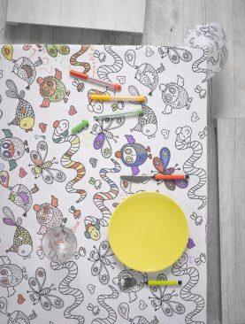 Fata masa copii de colorat 8011 Animals 150x150 cm