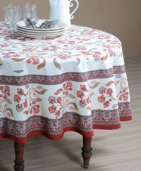 Fata masa dreptunghiulara flori rosii Bastide Rouge 160x250 cm