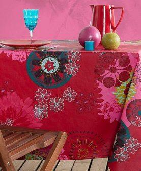 Fata masa rosie Mandala bumbac 155x155 cm