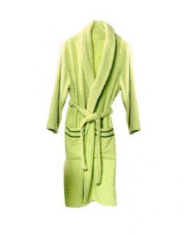 halat verde bumbac pentru baie