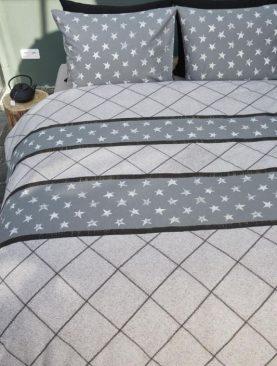 Lenjerie pat Vintage Star Grey 200x200/220 cm